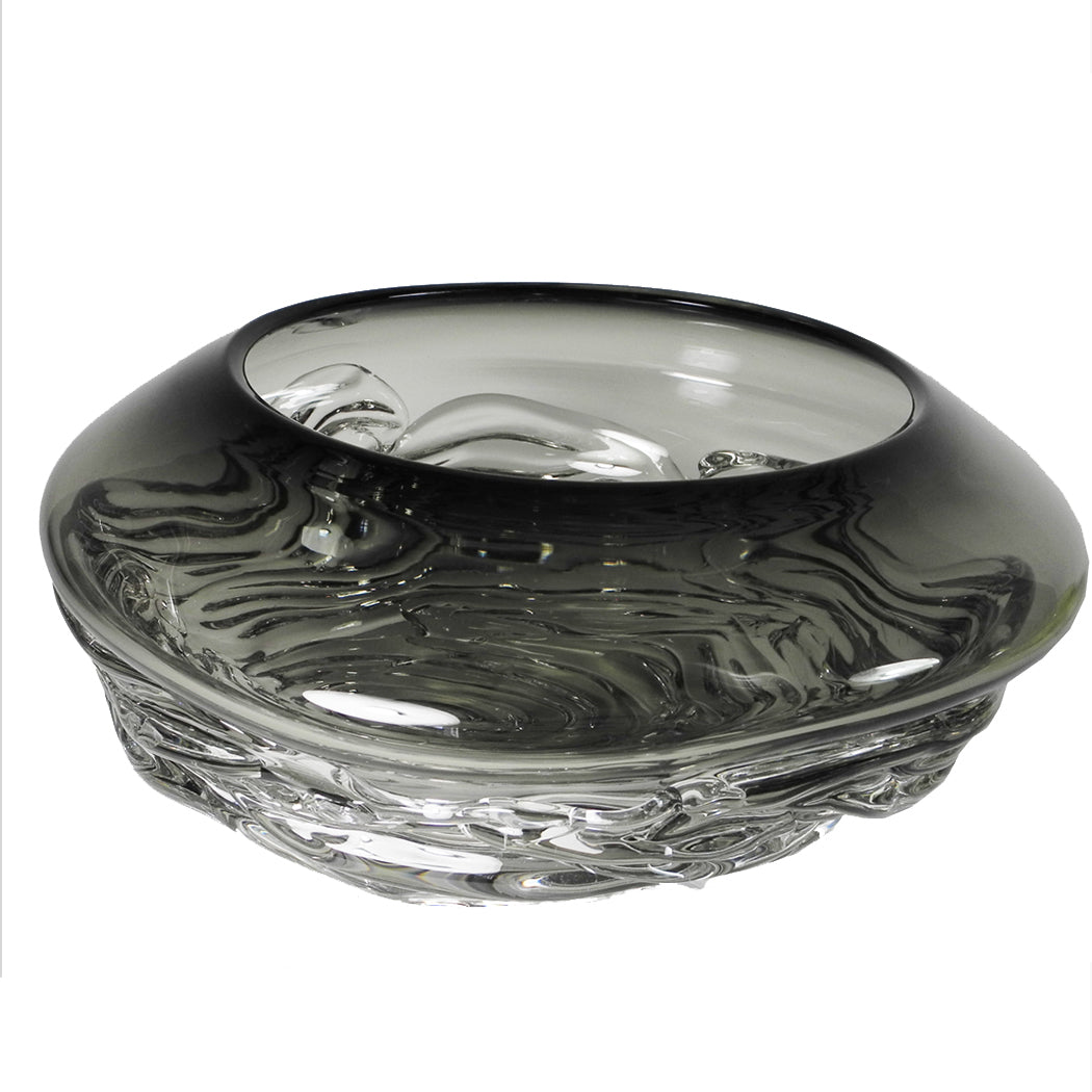 Grey Ripple Wave Bowl