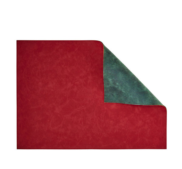Nubuck Placemat in Red & Green