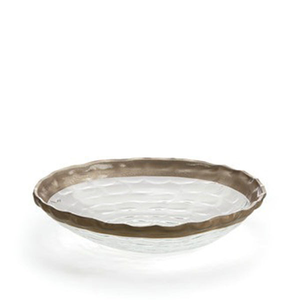 Truro Medium Shallow Bowl in Platinum