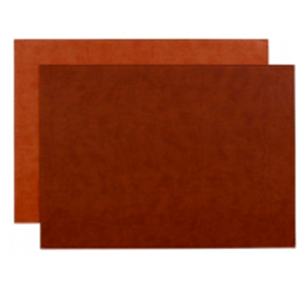 Reversible Gallery Placemat in Brick & Rust (Set of 4)