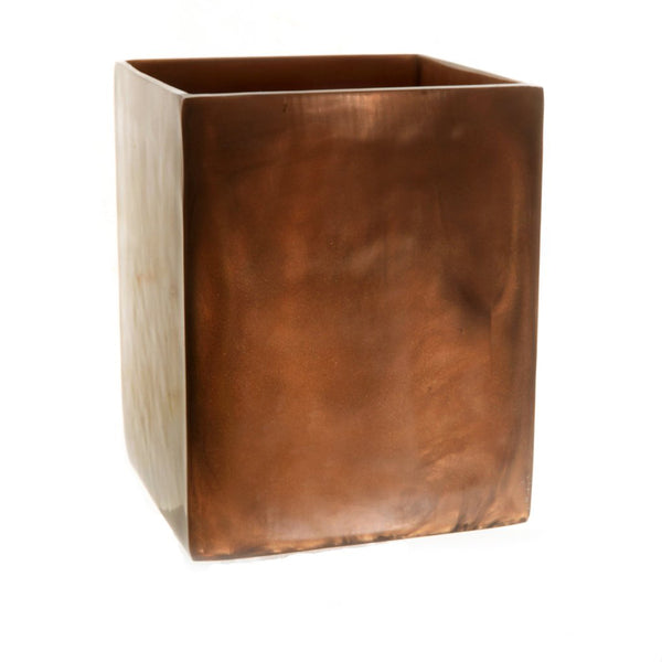 Resin Square Wastebasket in Chocolate Pearl