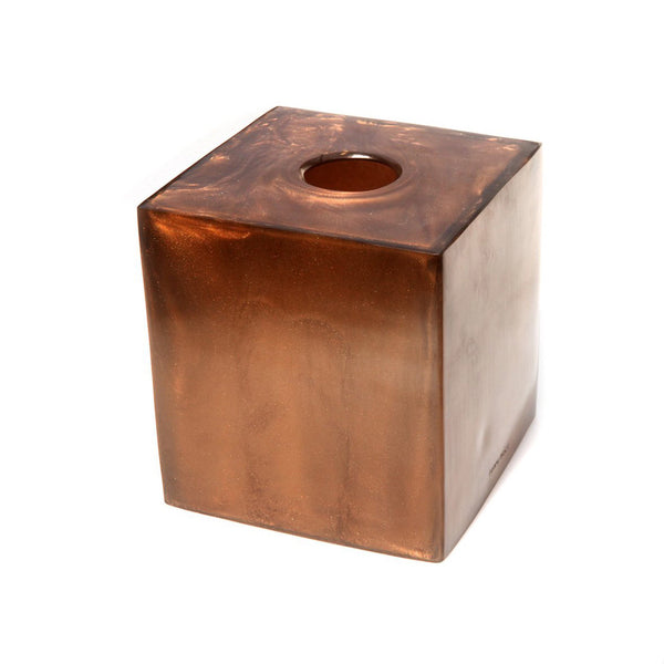 Resin Tissue Box in Chocolate Pearl
