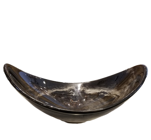 Oval Resin Bowl in Grey
