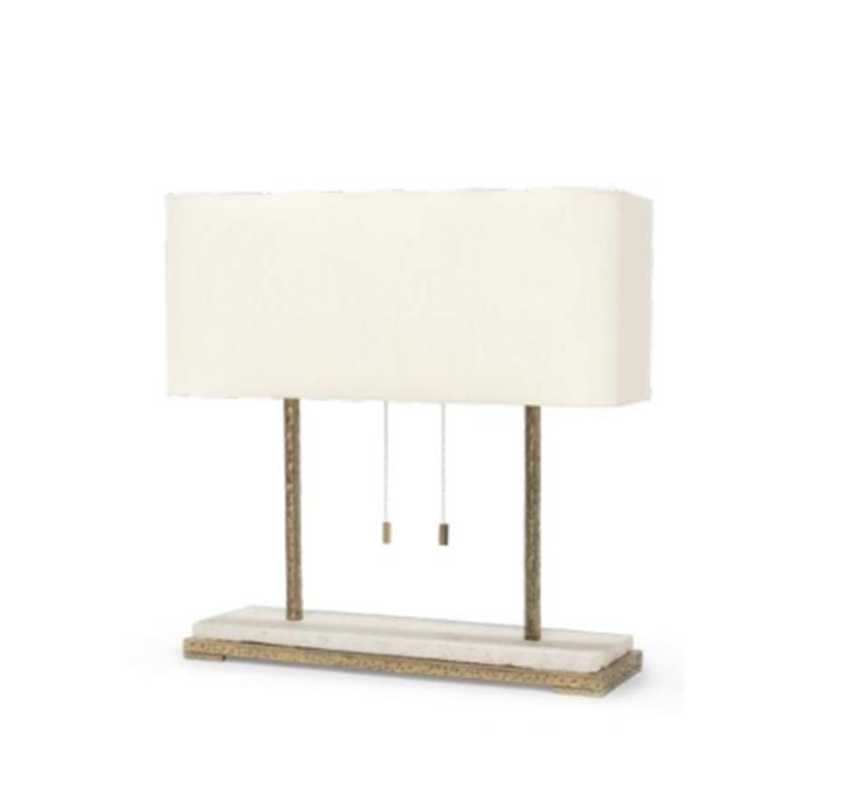 Hammered Metal Table Lamp Material Possessions