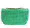 Small Woven Leather Half Flap Purse (4 colors available)
