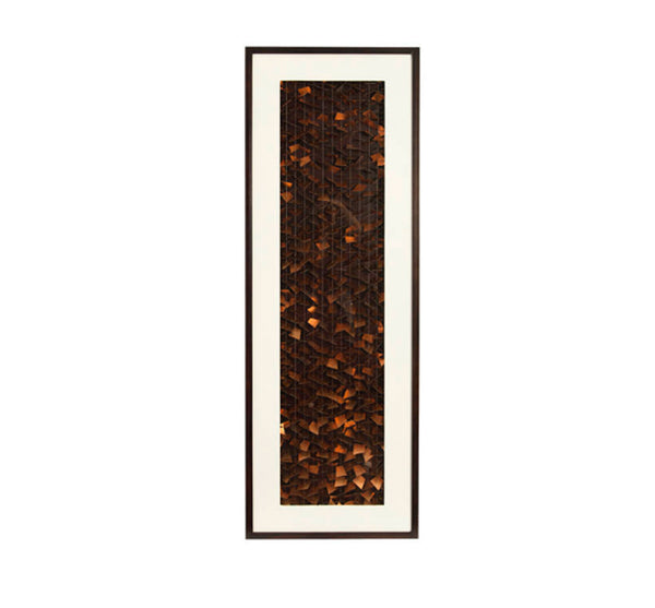 Copper Pieces Framed Wall Art 24x71