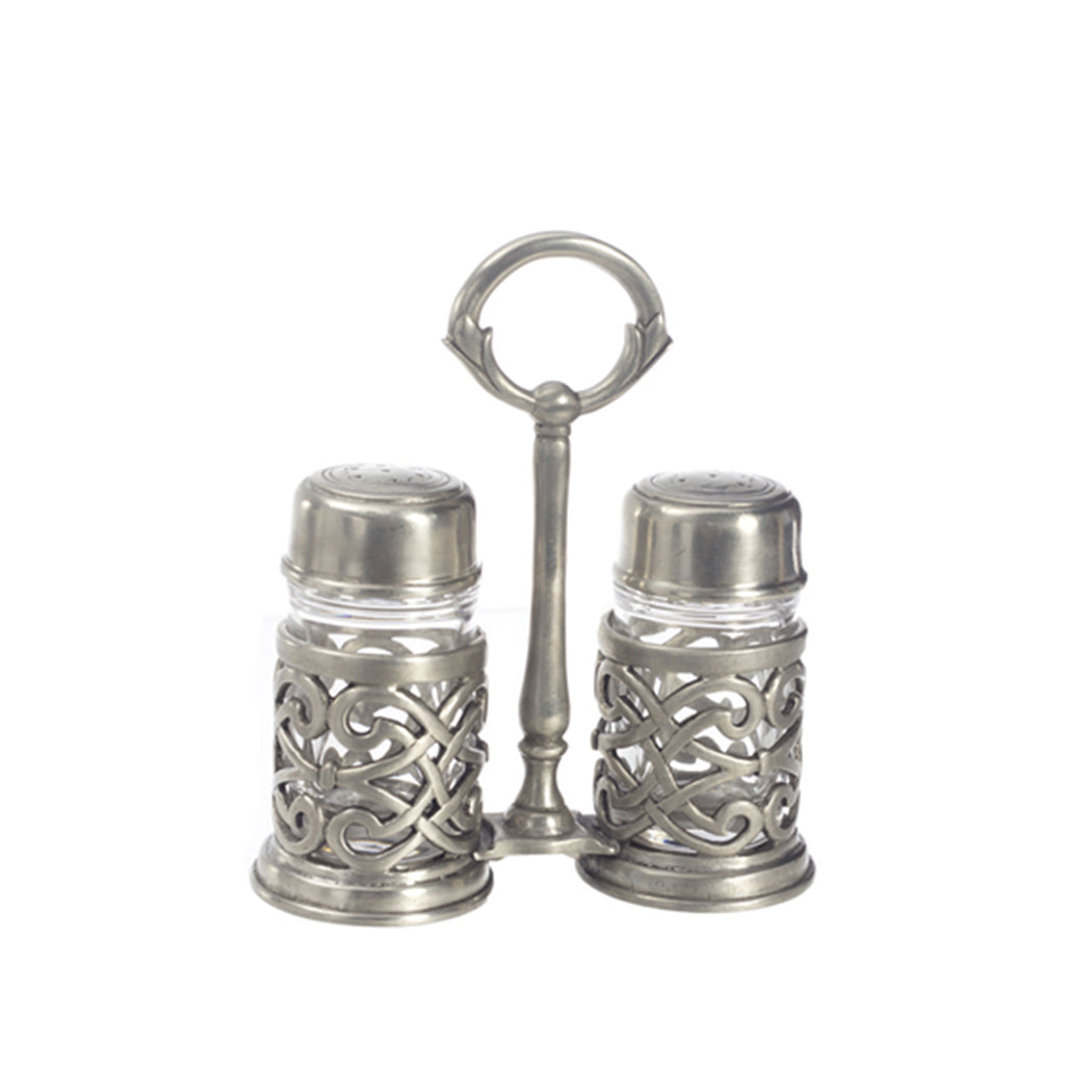 Cutwork Salt & Pepper with Caddy
