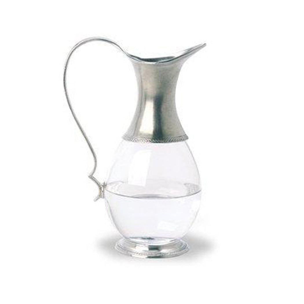 Glass & Pewter Pitcher