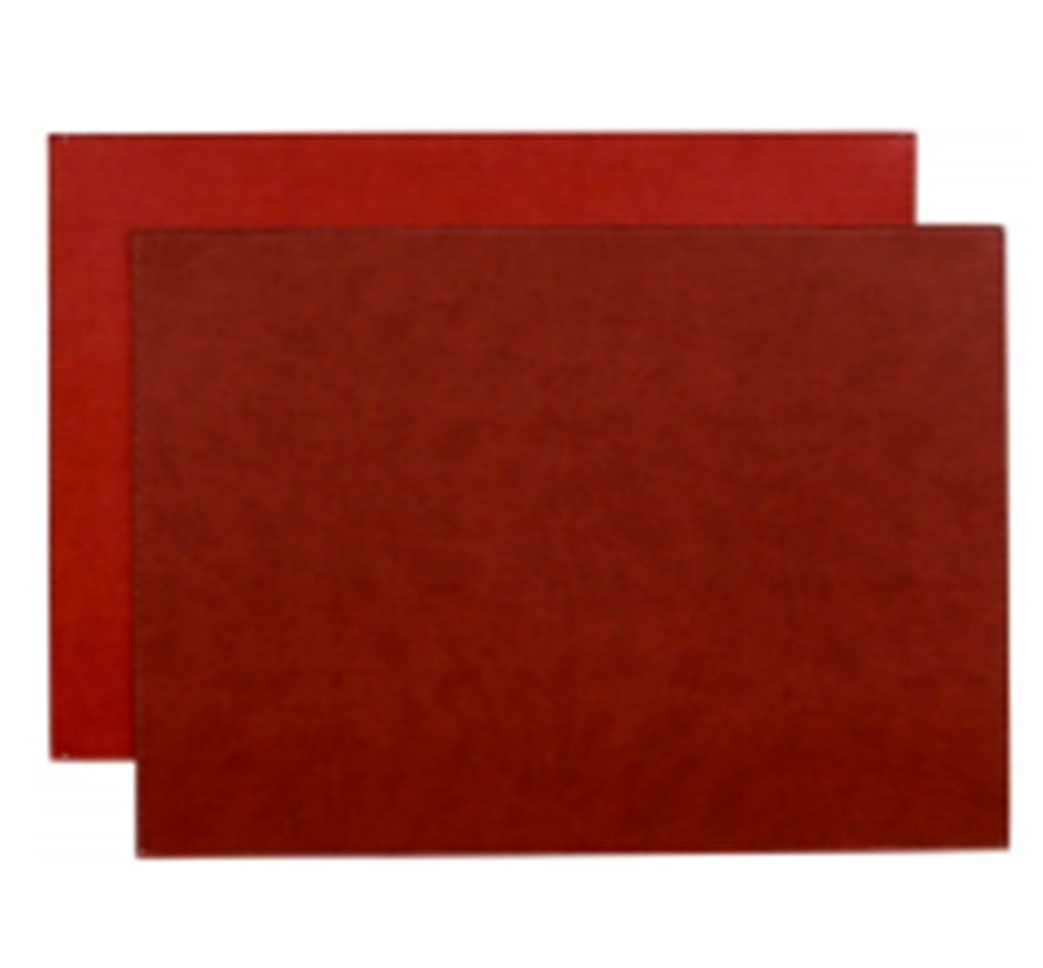 Reversible Gallery Placemat in Crimson & Red (Set of 4)
