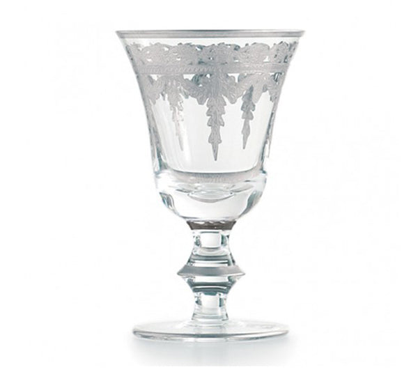 Vetro Wine Glass in Silver