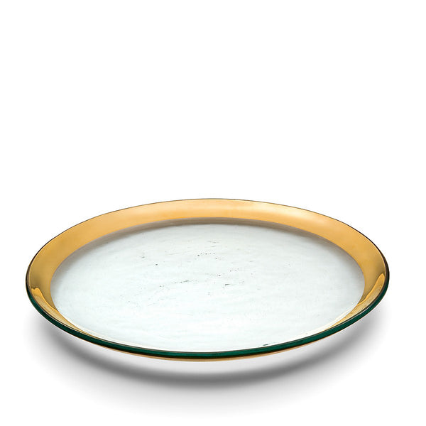 Roman Antique Oval Platter in Gold