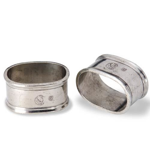 Pewter Oval Napkin Rings
