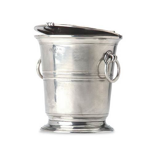 Lidded Pewter Ice Bucket