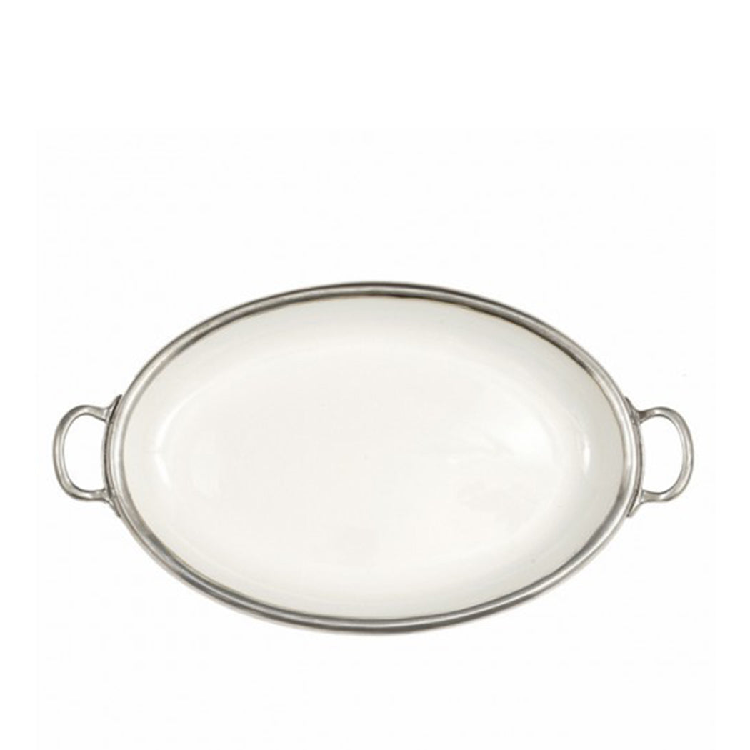 Tuscan Oval Tray with Handles
