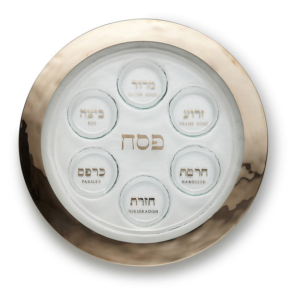 Seder Plate in Platinum