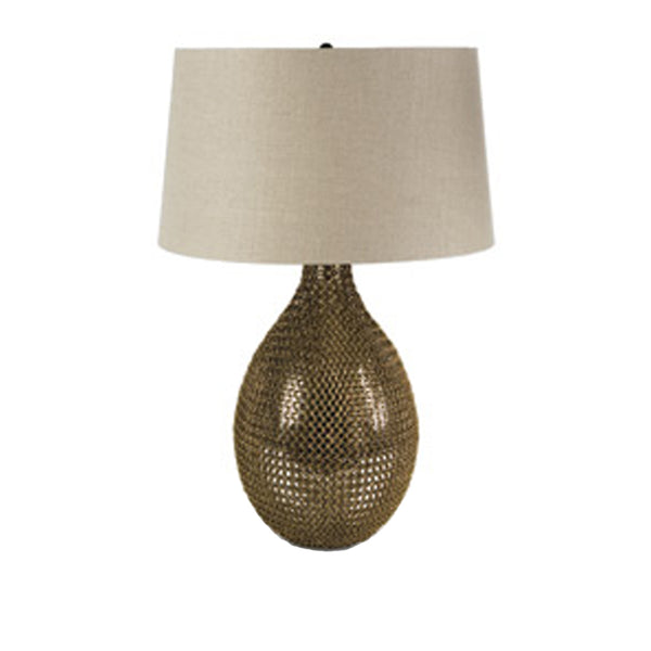 Chain Link Glass Vessel Lamp
