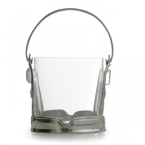 Taverna Crystal Ice Bucket with Handle