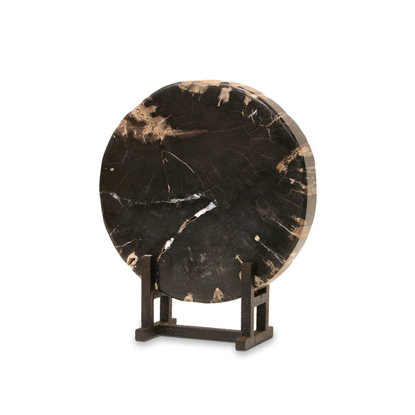 Black Petrified Wood With Stand