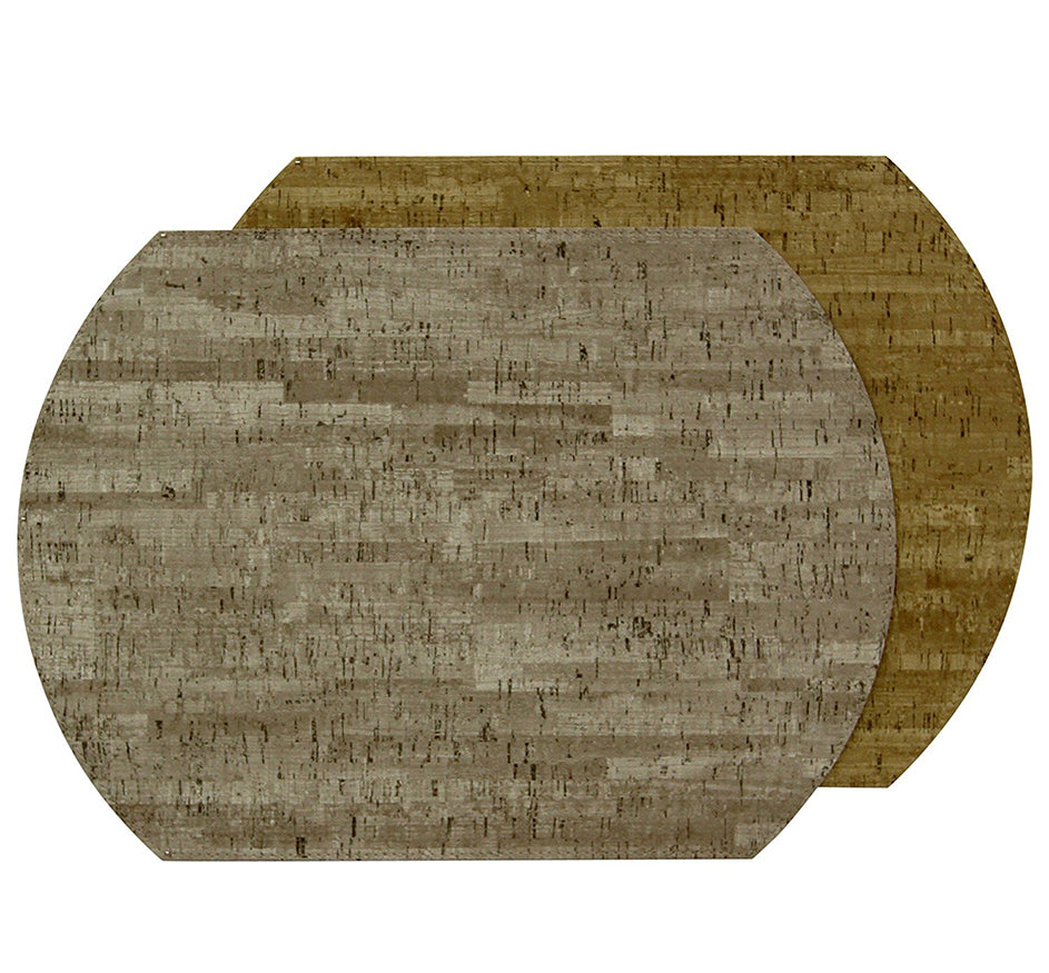 Reversible Cork Placemat in Mercury & Sand (Set of 4)