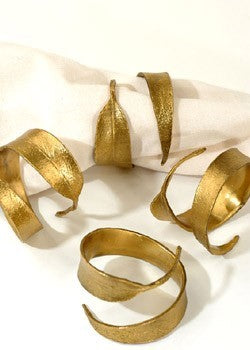 Eucalyptus Napkin Ring Gold