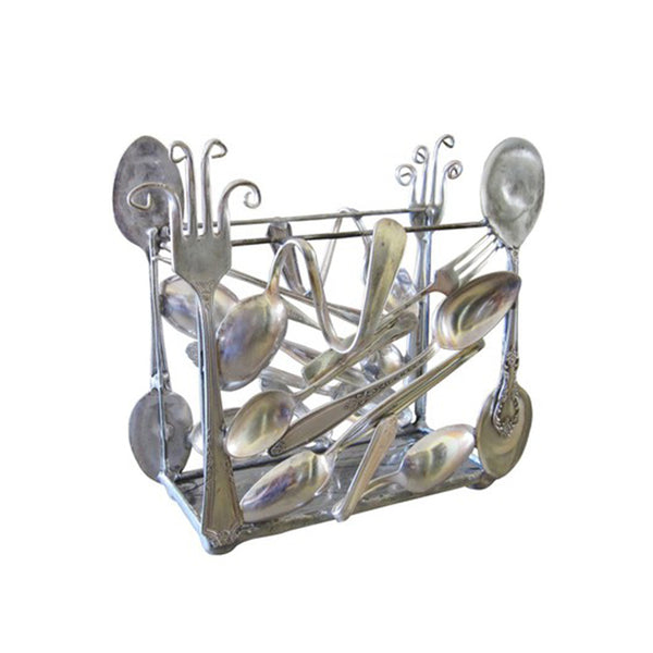 Silver Vertical Napkin Holder