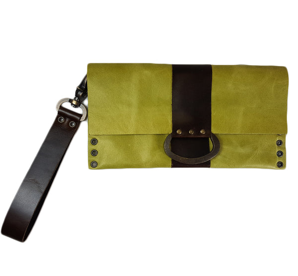 Leather Wristlet Clutch (Available In 5 Colors)