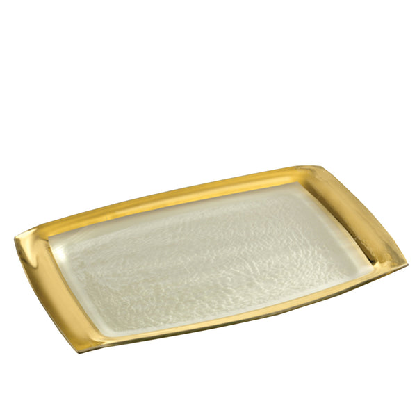 Roman Antique Rectangle Tray Gold