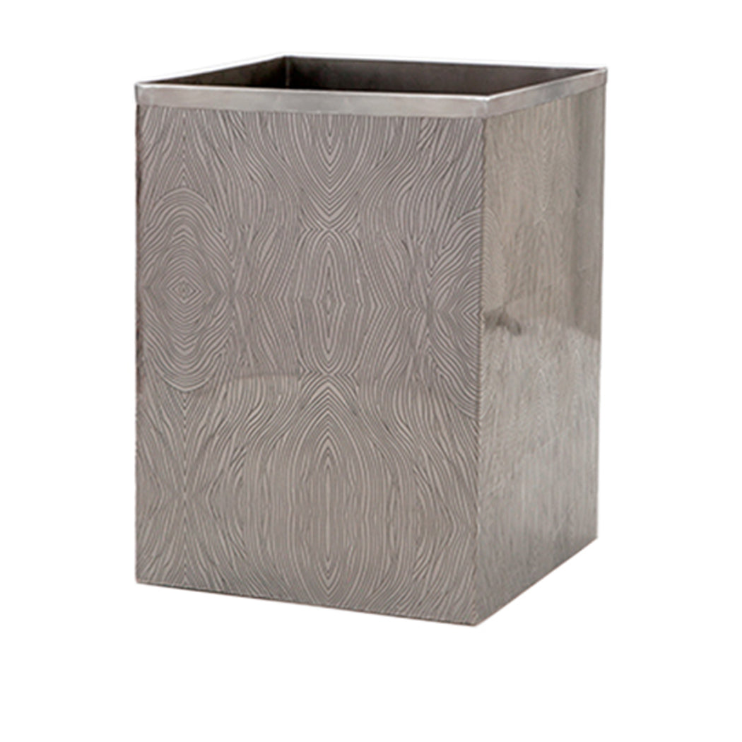 Humbolt Square Wastebasket in Black Nickel