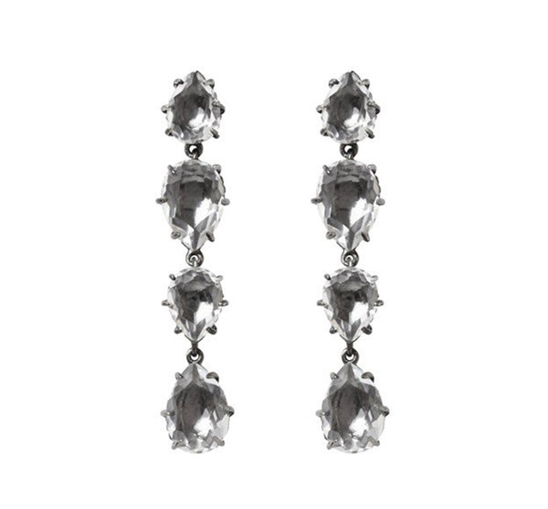 Quartz Cascade Earrings Dove Grey