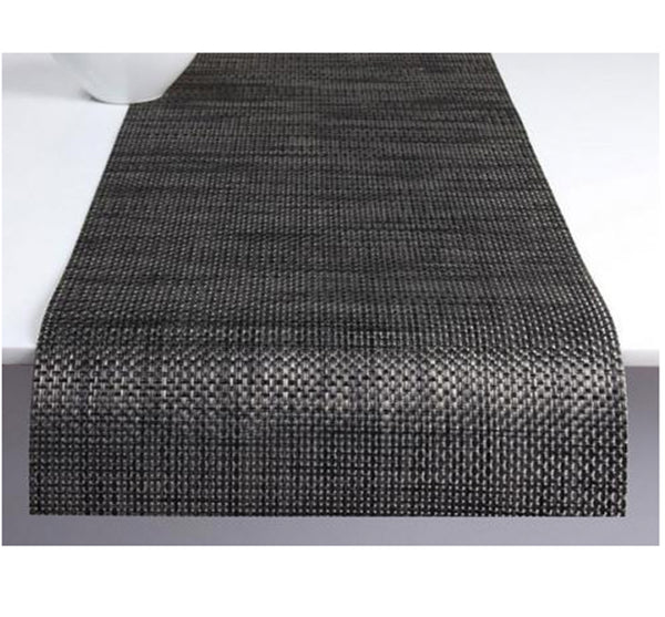 Basketweave Runner in Carbon