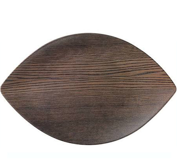 Walnutwood Melamine Large Leaf Serving Tray
