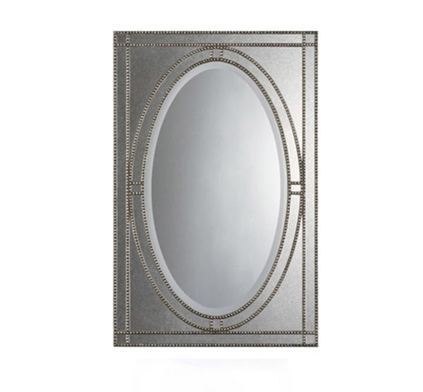 Antique Sliver Studded Mirror 29x44
