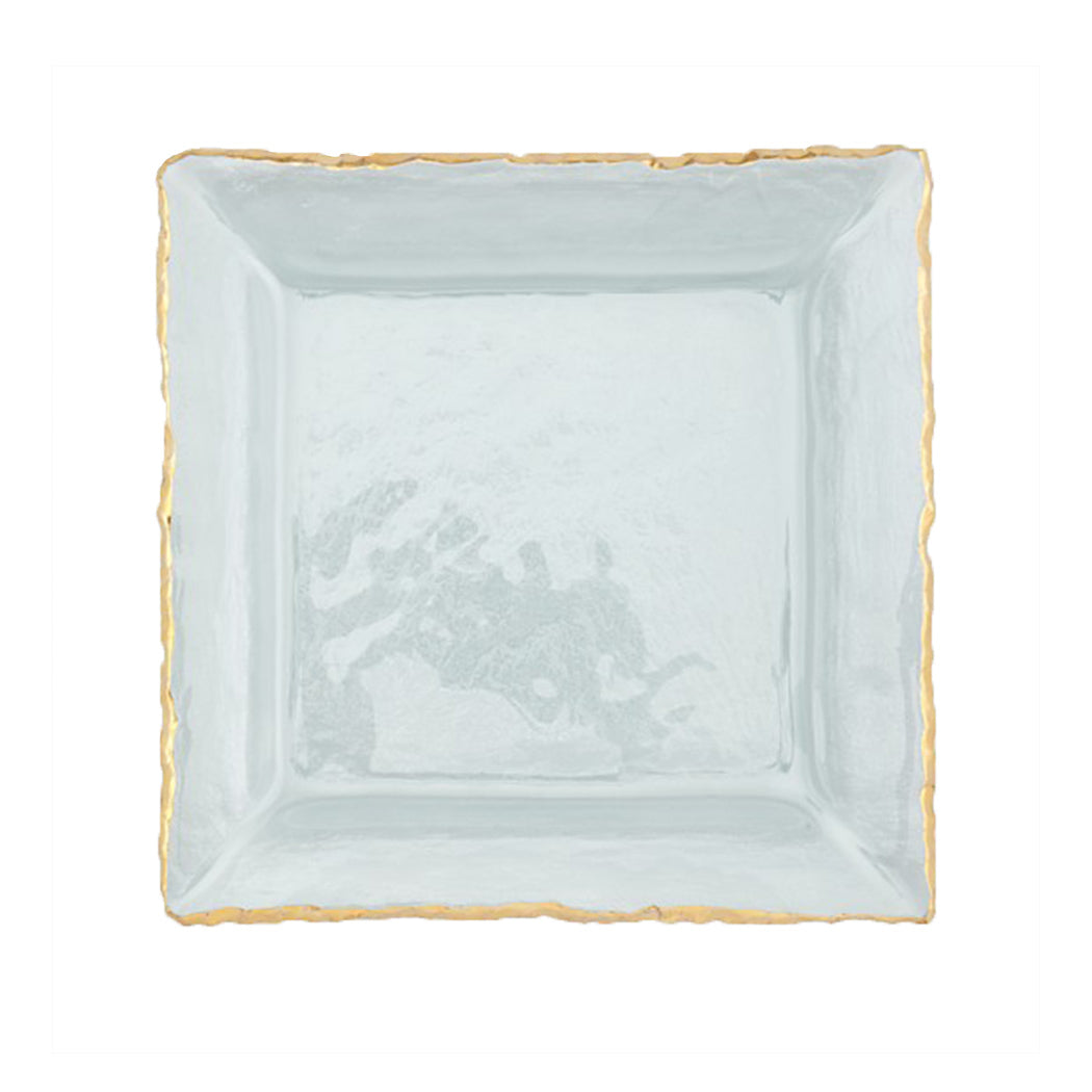 Edgey Square Platter Gold