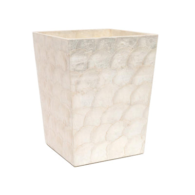 Andria Pearlized Wastebasket