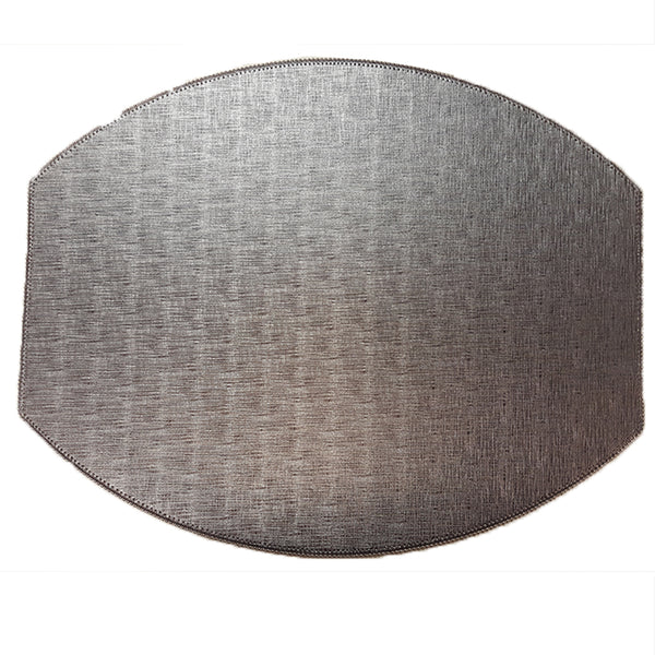 Treviso Elliptical Placemat  in Pewter