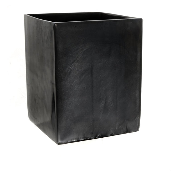 Resin Square Wastebasket in Ebony Pearl