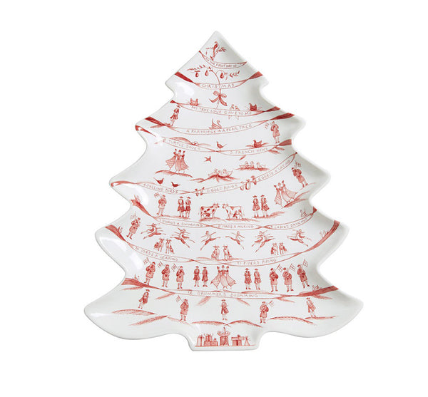 Winter Frolic Tree Platter - 12 Days of Christmas