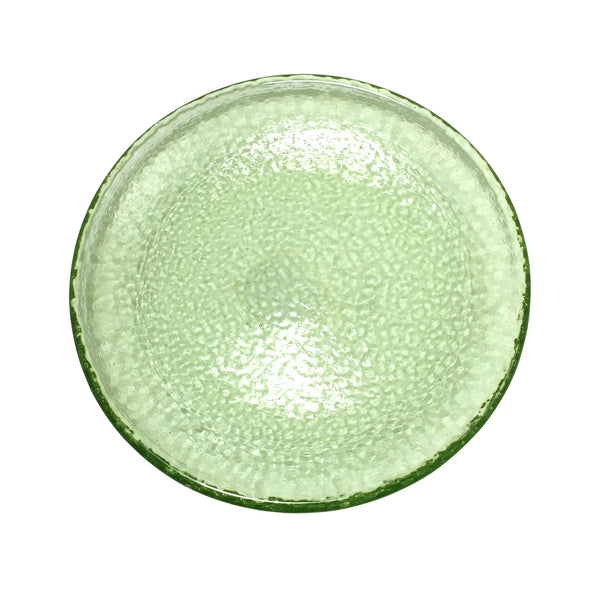 Recycled Glass Olive Appetizer Plate