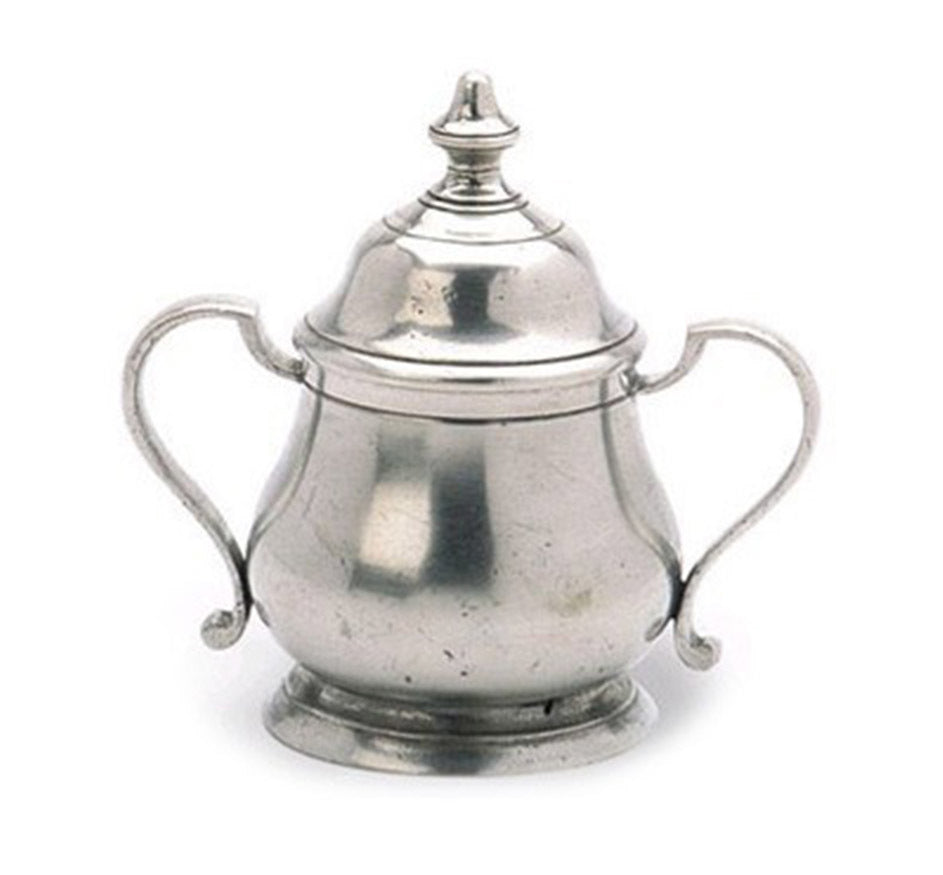 Pewter Britannia Lidded Sugar Bowl