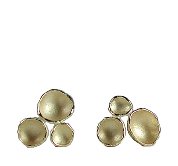Three Pod Gold Vermeil Stud Earrings