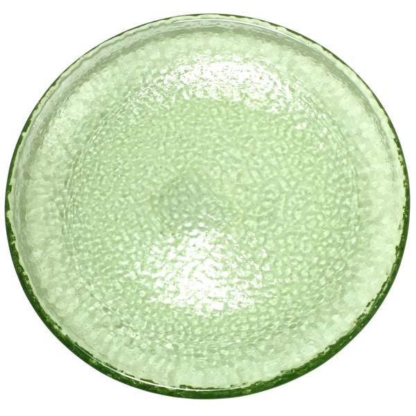 Recycled Glass Olive Dinner Plate