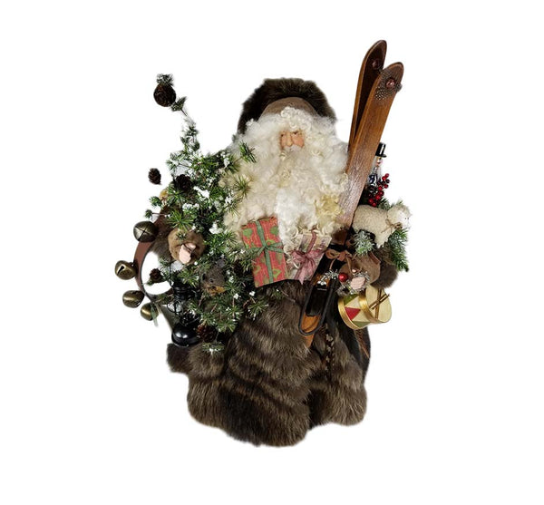 Woodland Raccoon Fur Santa