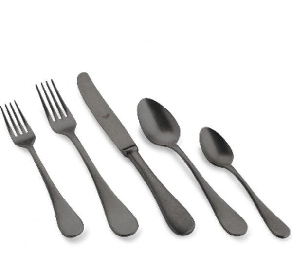 Brescia Black Shiny Oro Nero 5-Piece Flatware