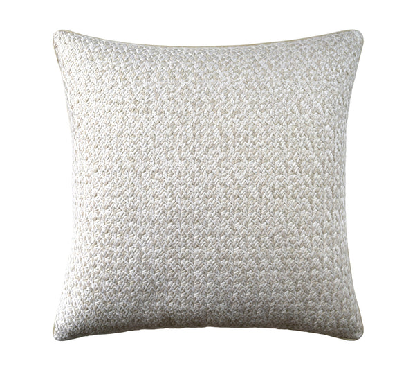 Lacing Pillow in Alabaster