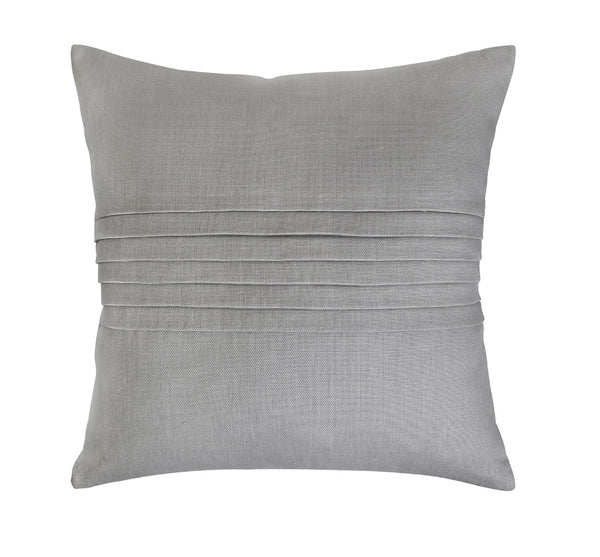 Slubby Linen Pleated Pillow