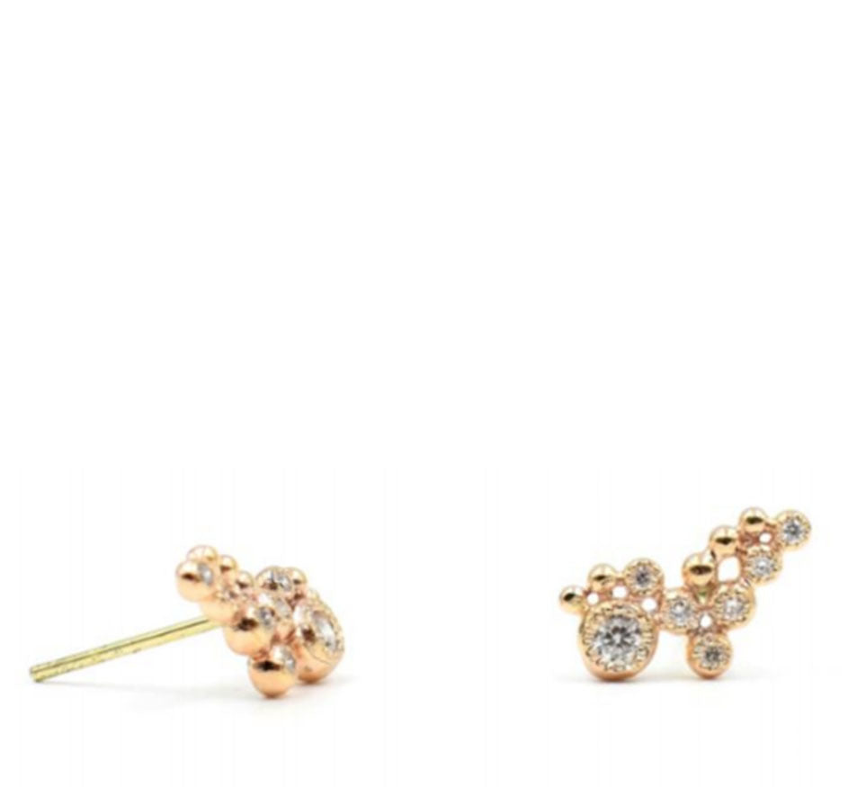 Rose Gold Diamond Studs