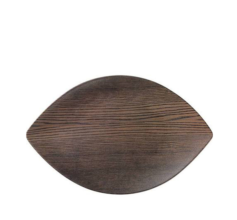 Walnutwood Melamine Small Leaf Serving Tray