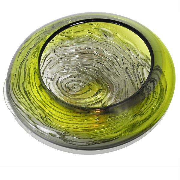 Lime & Grey Ripple Wave Bowl