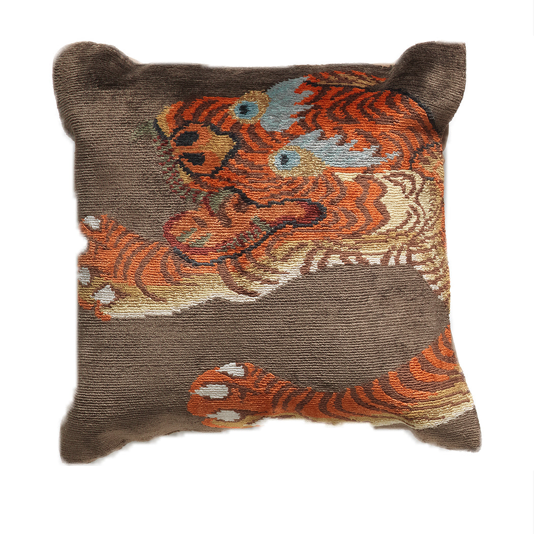 Tiger Head Pillow