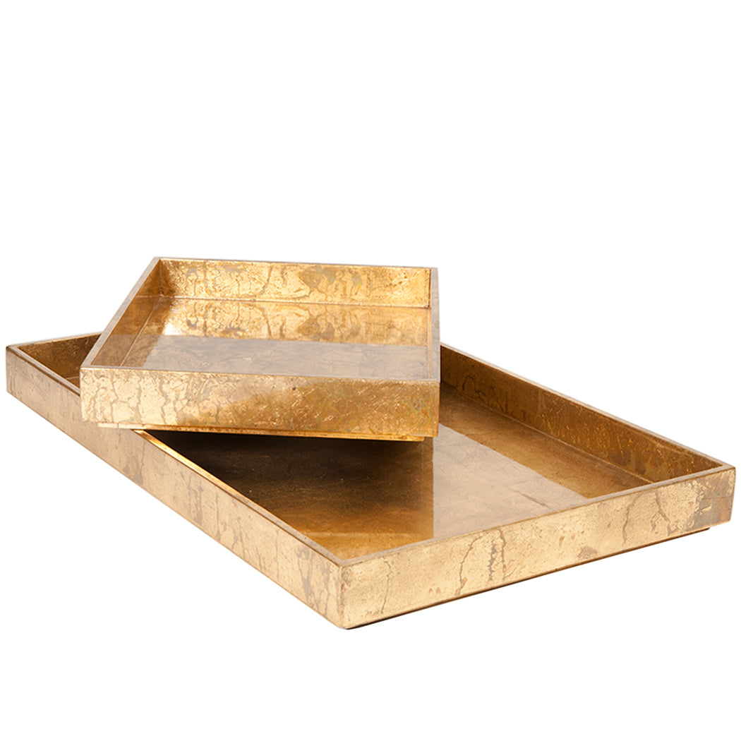 Luxe Leaf Rectangle Tray Large